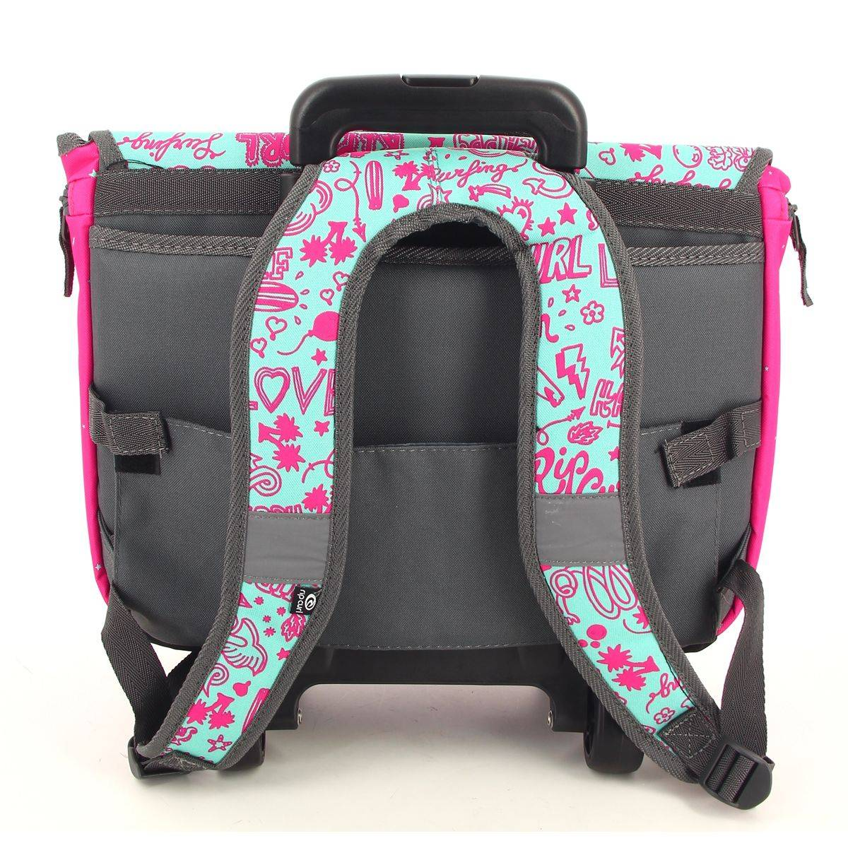 rip curl cartable roulettes fille star let wh satchel. Black Bedroom Furniture Sets. Home Design Ideas