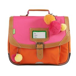 Tann's - Petit cartable maternelle 32cm bicolore rose et orange Frida (32156)